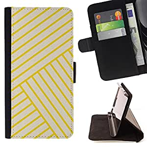 - yellow golden tiles yellow bling lines - - Prima caja de la PU billetera de cuero con ranuras para tarjetas, efectivo desmontable correa para l Funny HouseFOR Sony Xperia Z3 D6603