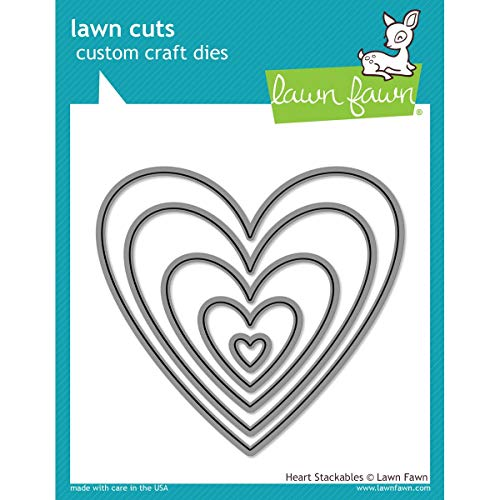 Lawn Fawn Die Cuts - Heart Stackables