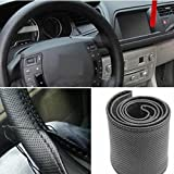 Bigzoom Leatherette Dotted Black Car Steering Wheel Cover For Hyundai Elite i20