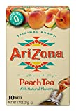 arizona iced tea cans - AriZona Peach Iced Tea Iced Tea Stix Sugar Free, 0.8-Ounce Boxes (Pack of 6) (Packaging May Vary)
