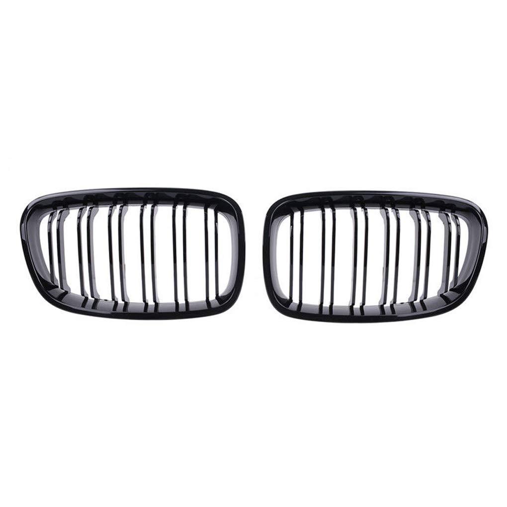 Ben-gi 1 Paire Gloss Black Line Double Capot Avant pour BMW Grill Grilles F20 1 S/érie 11-14