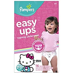 Pampers Easy Ups Training Underwear Girls, Size 4, 116 Count