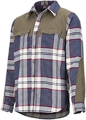 Marmot Needle Peak Mid WT Flannel LS - Camiseta de Manga Larga para Hombre, Hombre, 42630-4968-6-XL, Dark Indigo/Cavern, Extra-Large: Amazon.es: Deportes y aire libre