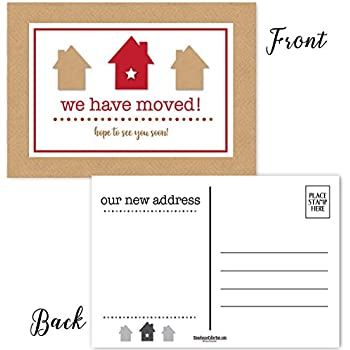 change of address postcard