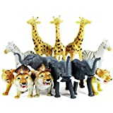 "Boley 12 Piece Jumbo Safari Animals - 9"" Jungle Animals and Zoo Animals - Great Educational Toy for Kids, Toddlers, Children Or Party Favor!"