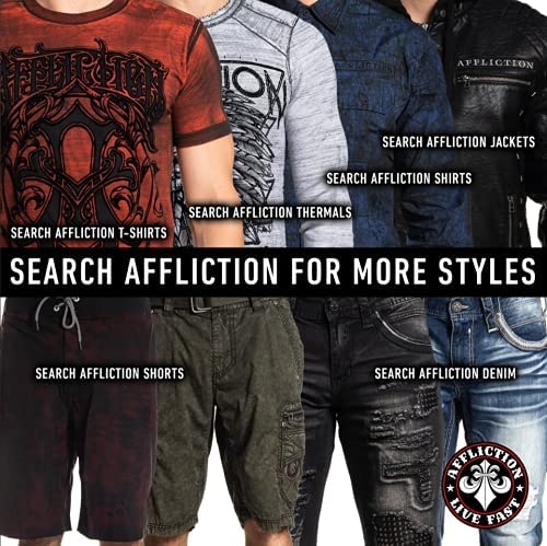 51ksY1LT49S. AC Affliction Mens Jeans Slim Fit. Slim Straight Jeans for Men Bootcut Clothing Ripped Mens Jeans Straight Fit.    Affliction Ace Standard Norwalk Slim Straight Leg Denim Jeans For Men