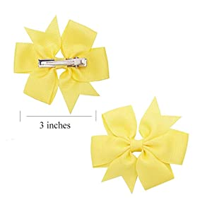 40 Pieces 3 inches Baby Girls Hair Bows Clips Boutique Grosgrain Ribbon Bow Pinwheel Barrettes For Babies Kids Toddlers Teens Gifts In Pairs (Color: Ribbon Hair Clips-40PCS)