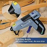 WORKPRO Cordless Hot Glue Gun, Fast Preheating Glue