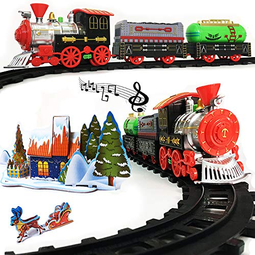 Rentian Christmas Train Set Toy for Under The Tree with Music and Light (Best Train Set For Under The Christmas Tree)
