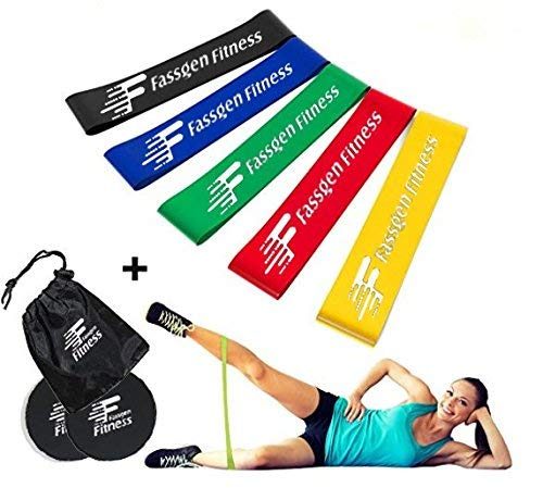 Fassgen Fitness Gliding Discs Core Sliders (2-Pack) Ab, Back, Hip, and Leg Exercise Gear for Gym, Home, Yoga, Pilates | Strengthen Abdominals, Burn Fat, Improve Balance