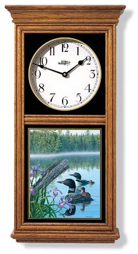 Loons Regulator Clock by Jim Kasper (Regulator Clock Glass)