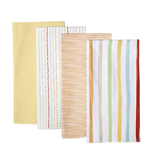 Kidsline Who's At The Zoo Receiving Blanket, Striped, 4 Count
