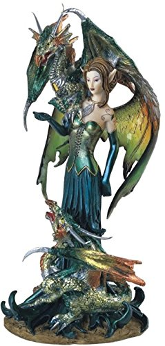 George S. Chen Fairy Collection Pixie with Dragon Fantasy Figurine Figure Decoration This gorgeous fairy collection Pixie with Dragon fantasy Figurine figure decoration has the finest details and highest quality you will find anywhere