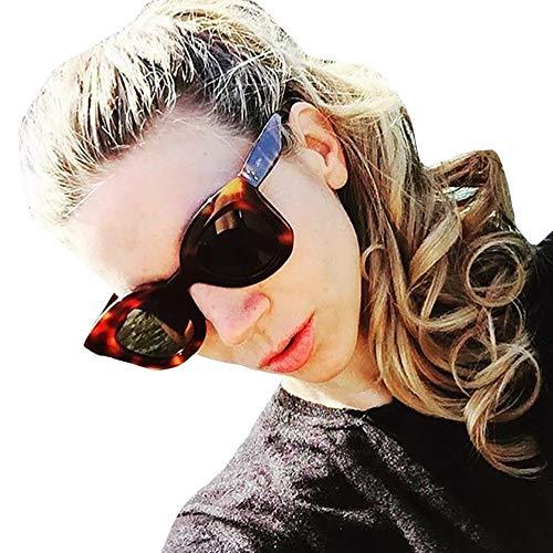 iNoDoZ Women's Classic Oversized Sunglasses Vintage Cateye Frame Shades Acetate Frame UV Glasses