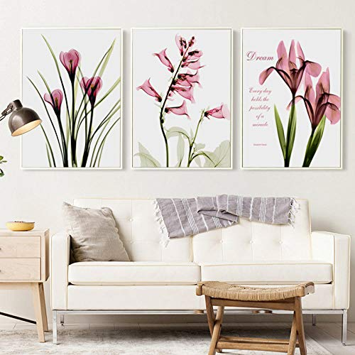 - HHXX9 3 Panel Simple Fashion Art Wall Decor Calla Lily Canvas Painting Print Poster Painting Living Room Decor 50X70Cmx3 No Frame
