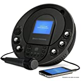 Electrohome Karaoke Machine Portable Speaker System CD+G/MP3+G Player with 3.5'' Video Screen, 2 Microphone Connections, Singing Music, AUX Input for Smartphones, Tablets, MP3 Players (EAKAR535)