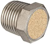 "Dixon ASP-4BV Nickel Plated Steel Air Hose Fitting, Breather Vent, 1/2"" NPT Male, 7/8"" Length"