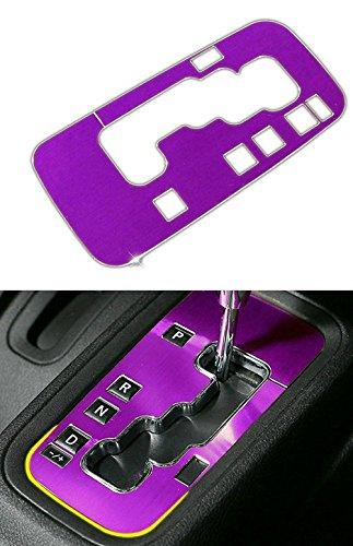 Danti Aluminum Interior Accessories Trim Gear Frame Cover for Jeep Wrangler 2011-2016 1pcs (Purple)