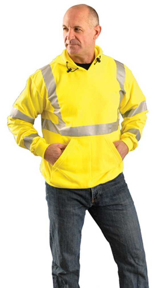 Stay Warm - PREMIUM Flame Resistant Pullover Hoodie - Hi Viz - X-LARGE-EACH by Haynesville