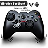 GooBang Doo G600 Vibration-Feedback Wireless USB Rechargeable 2.4Ghz Gamepad Controller Joystick Support PC(Windows Vista/7/8/8.1/10) and PS3 and Android (4.0 above)