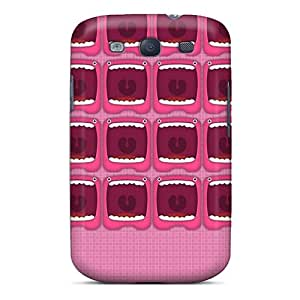 Ultra Slim Fit Hard JenmoraBonken Cases Covers Specially Made For Galaxy S3- Monster Face Pink Hd