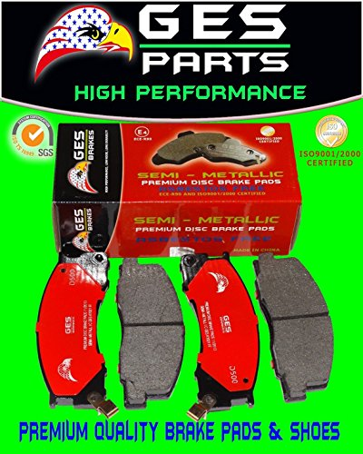 90-96 Toyota Previa With anti-lock braking system 1 NEW Front Brake Pads D500 by GES PARTS