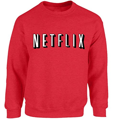 [Vizor Netflix Sweatshirt Ugly Christmas Sweater Netflix Family Christmas Sweatshirt Funny Christmas Sweater Party Red M] (Couples Costume Breaking Bad)