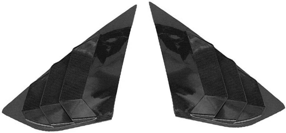 Tickas Rear Window Louvers,Rear Window Louvers Car Rear Window Blinds Side Tuyere Louvers Vent for Ford Focus ST RS MK3 Hatchback Carbon Fiber Style
