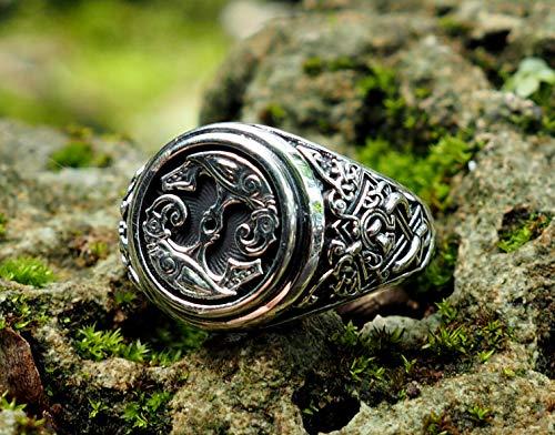 Hugin and Munin Ring Odin's Ravens Ring Viking Ring Scandinavian Norse  Viking Jewelry with 925 Sterling Silver