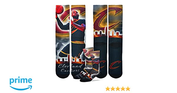 d8cc5dc496b9 Amazon.com  Cleveland Cavaliers NBA City Star Socks 1 Pair Men s Medium  5-10 - Lebron James  23  Clothing