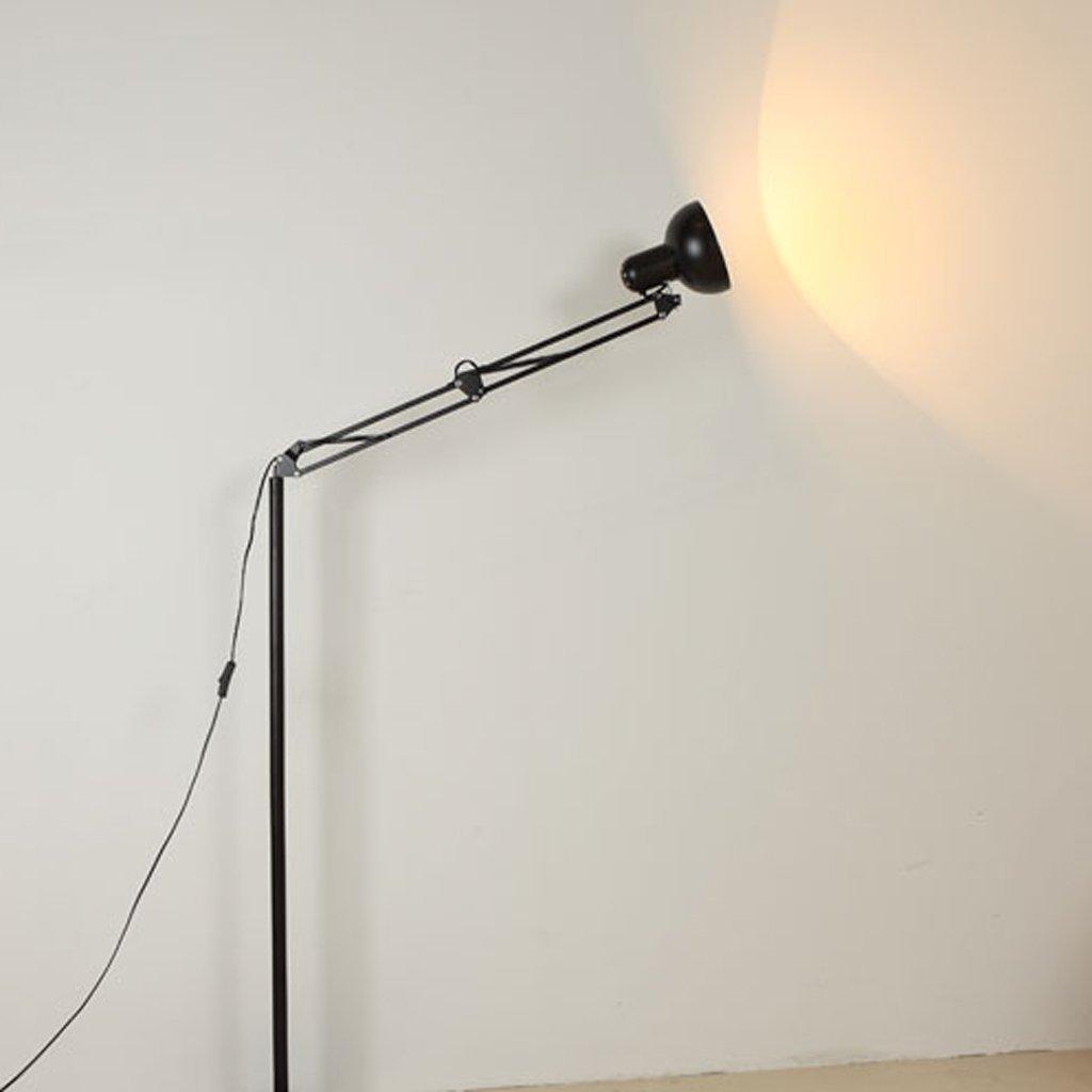 MOMO Stehlampe Modern Einfache Stehlampe Wohnzimmer Stehlampe Schlafzimmer Studie Lampe Kreative Lange Arm Vertikale Stehlampe Led Stehlampe by MOMO (Image #3)
