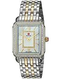 MICHELE Women's 'Deco II' Swiss Quartz Stainless Steel Casual Watch, Color:Silver-Toned (Model: MWW06I000004)