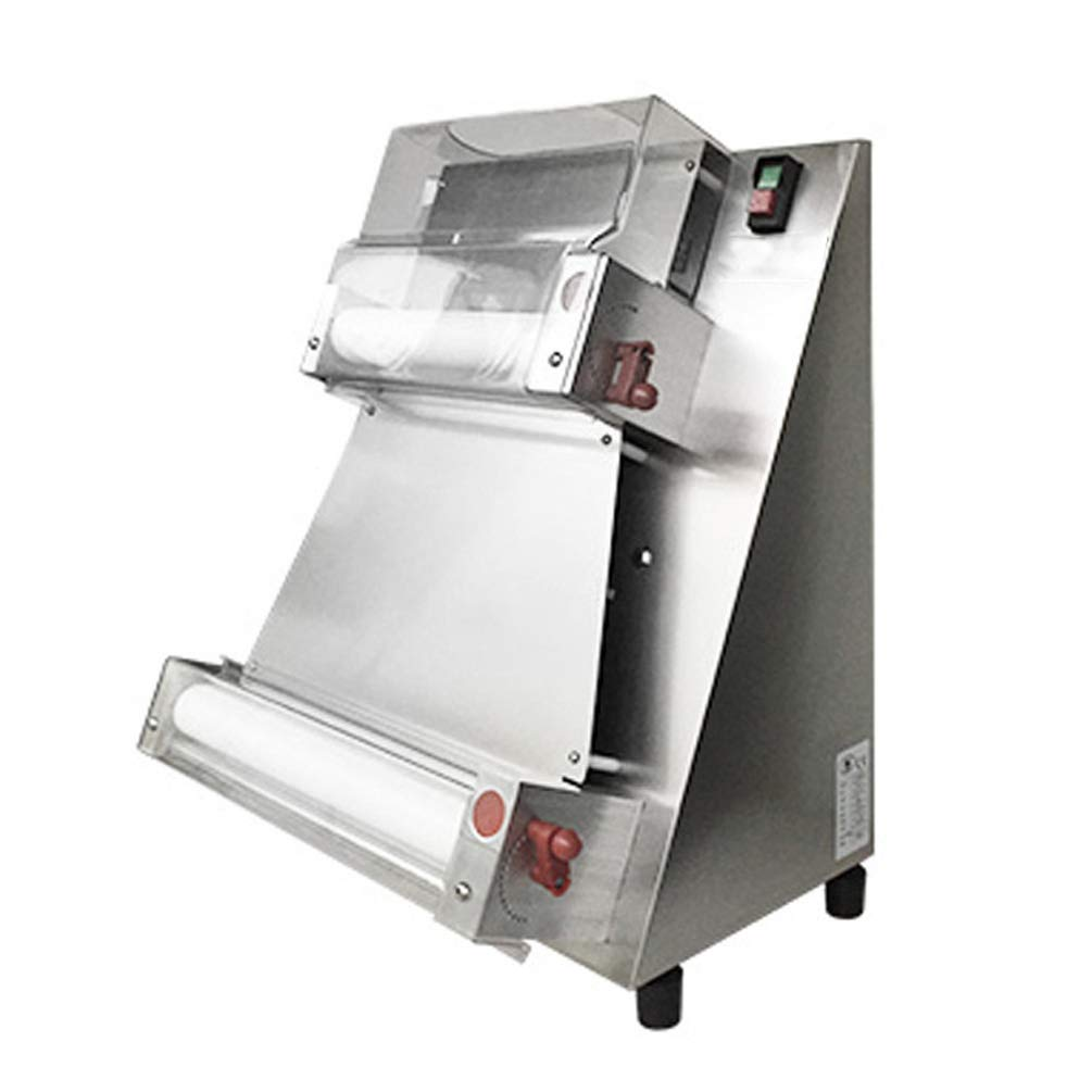 Enshey 370w Automatic Pizza Dough Roller Sheeter Machine Pizza Press Machine 3''-16'' Dough Pressing Machine Electric Bakery Large Pasta Maker Machine Food Preparation Equipment, 1-3 Days Delivery