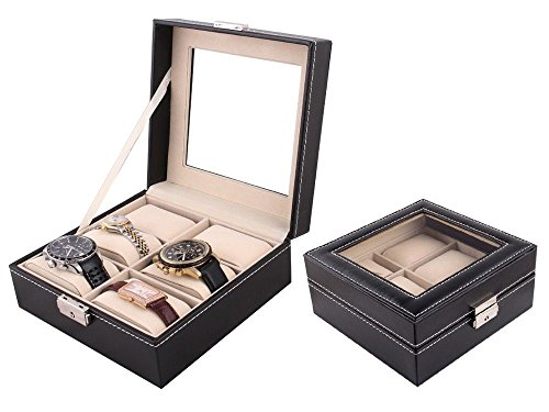 durable-6-watch-leather-box-glass-top-display-lockable