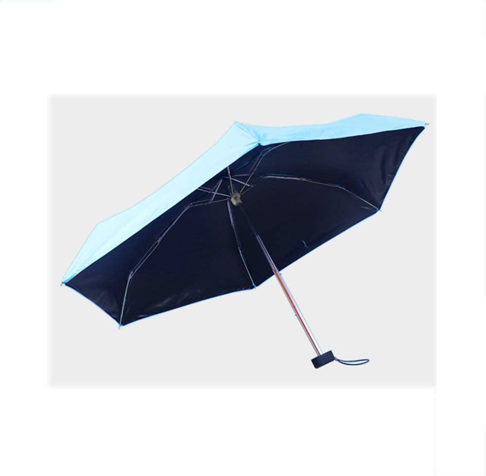 ZhiGe Umbrella Parasol,Foldable Umbrella,Portable Mens Umbrella Mini Pocket Umbrellas Prevent UV Rainproof Folding Ladies Small Five fold Sun Umbrella