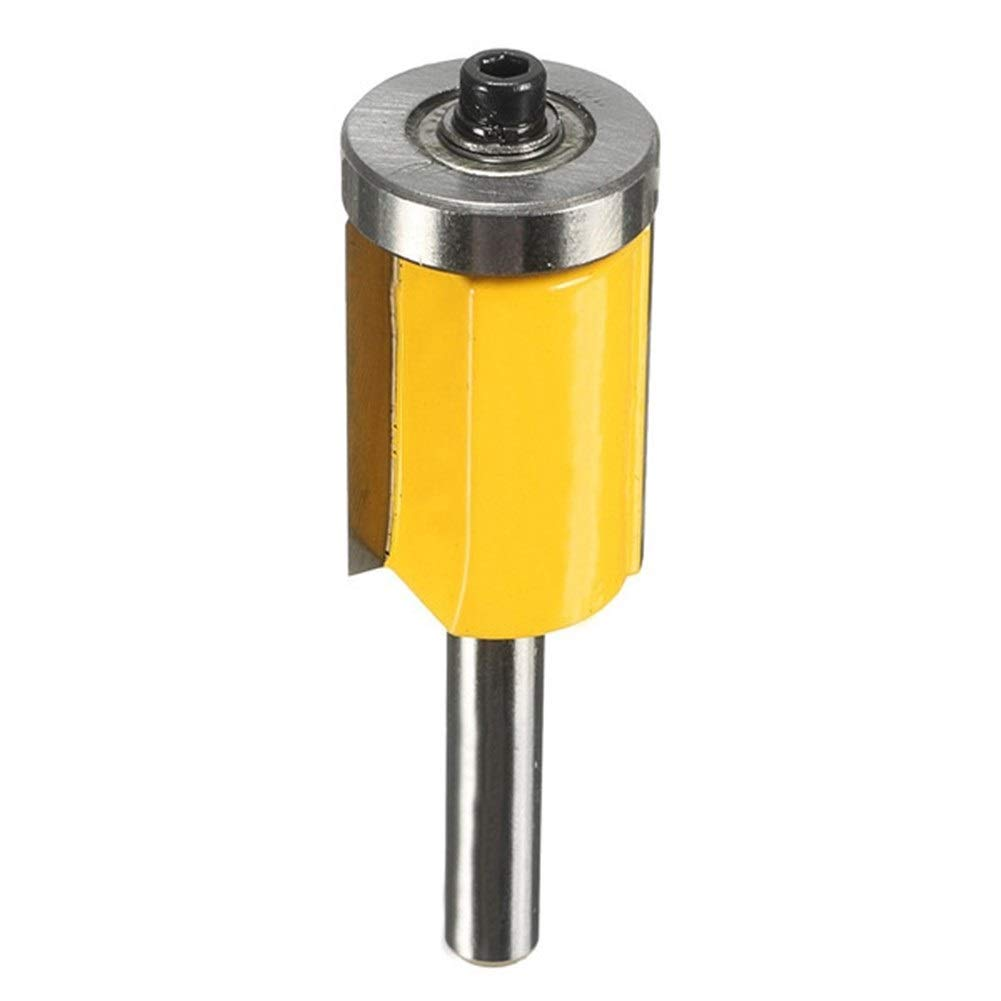 Nrthtri smt Shank Flush Trim Router Bit End Bearing Router Bit 1//4 Inch and softwoods