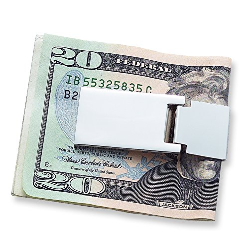 Diamond2Deal Nickel-Plated Hinged Money Clip (Length: 1.5 mm|Width: 0.5mm)