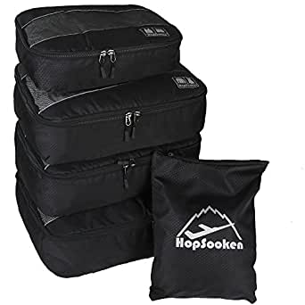 5pc Packing Cubes Set Large Travel Luggage Organizer 4 Cubes 1 Laundry Pouch Bag