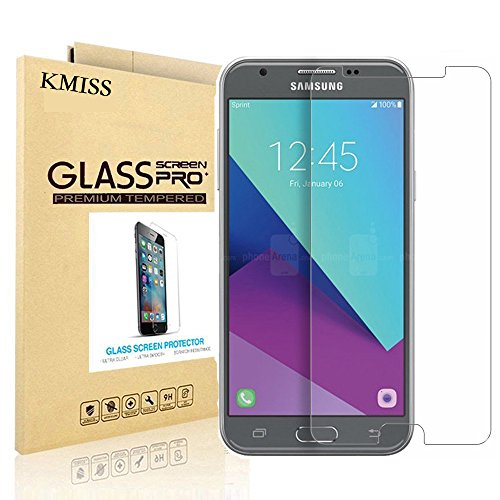 Samsung Galaxy J3 (2017) [Not Fit For 2016 Version) Screen Protector, KMISS [Tempered Glass] with [0.3mm Ultra Thin 9H Hardness 2.5D Round Edge] Lifetime Replacement Warranty (for Galaxy J3 2017)