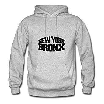 New York Bronx Designed Round-collar : Large Womensweatshirts Grey- Made In Good Quality.