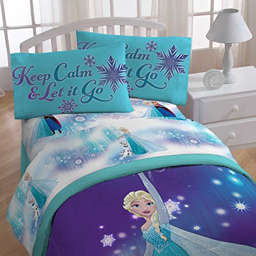 Disney Frozen Magical Winter 4 Piece Twin Size Bed In A