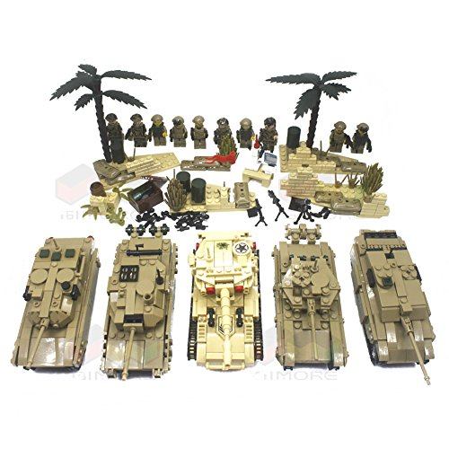 Military Collection Series T90 M1A2 Abrams Challenger 2 Leclerc Main Battle Tank SK105 Light Tank Heavily fortified positions Artillery Army Building Blocks 1800+pcs 10dolls Educational DIY Toy