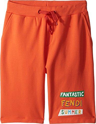 Fendi Kids Boy's 'Fantastic Fendi Colours' Jogging Shorts (Big Kids) Orange 10 - Color Fendi