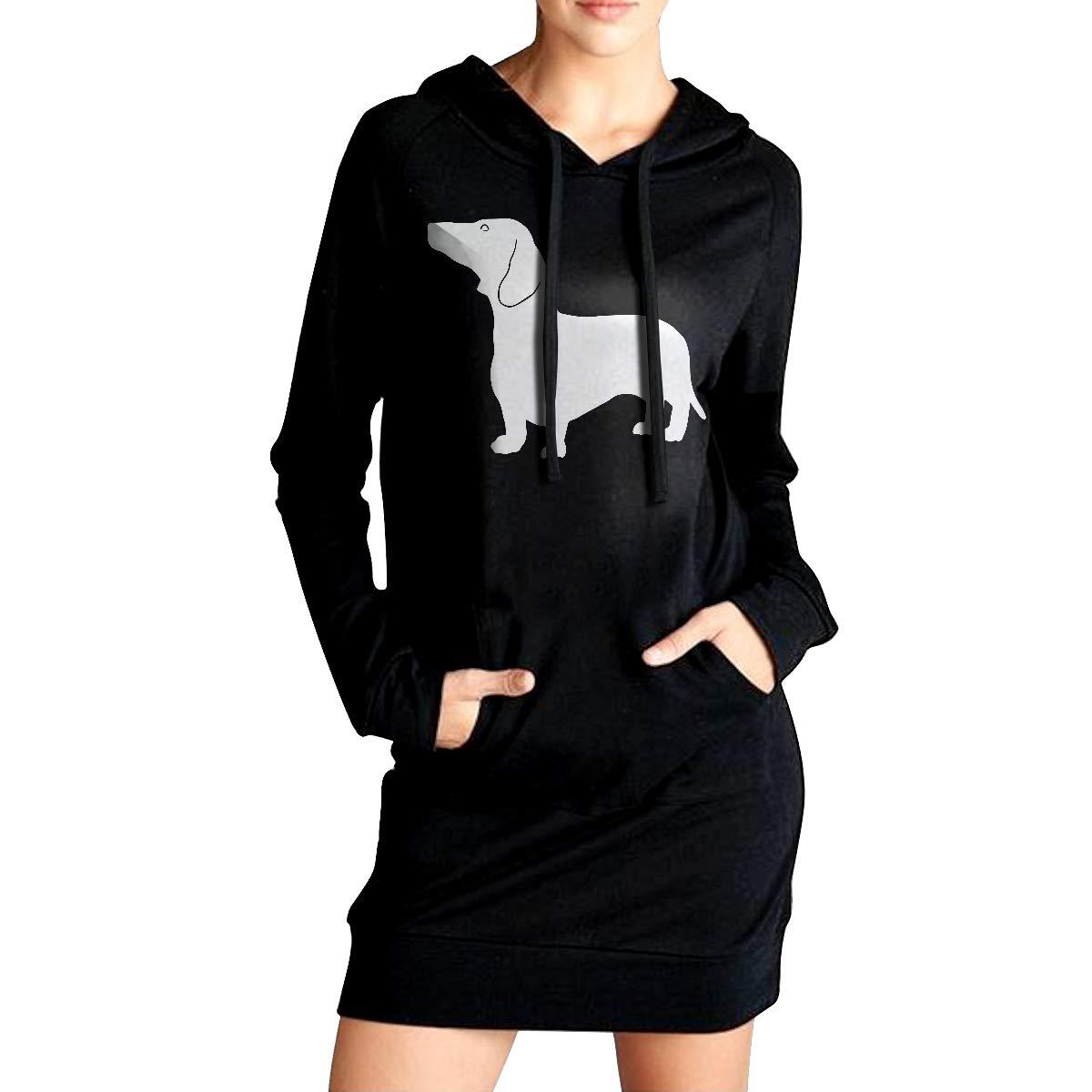 Dachshund-1 Sportswear with Pockets ADA/&KGH Womens Sports Sweatshirt Long Hoodie Dress