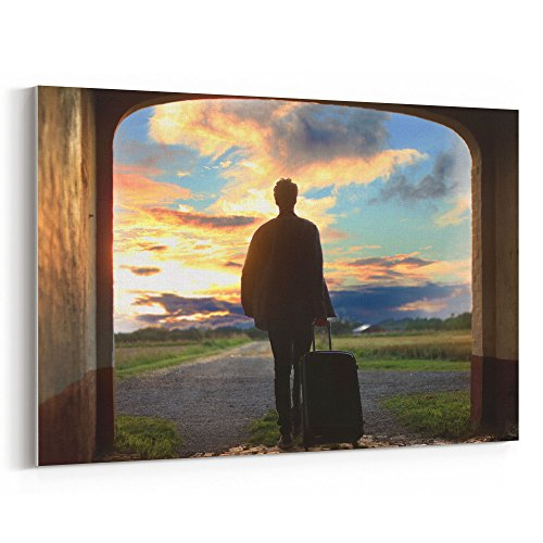 Westlake Art - Man Shadow - 12x18 Canvas Print Wall Art - Canvas Stretched Gallery Wrap Modern Picture Photography Artwork - Ready to Hang 12x18 Inch (7C0B-EDCCB)