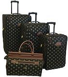 American Flyer Luggage Lyon 4 Piece Set, Metalic Black, One Size