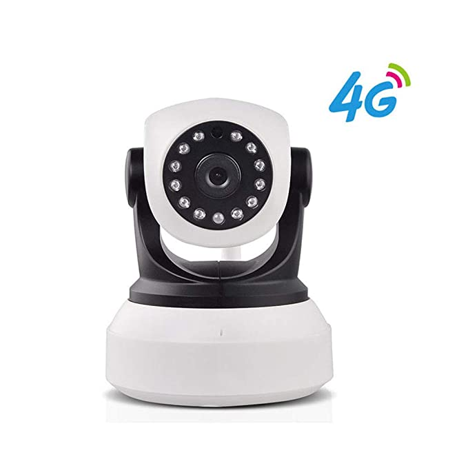 Cámara de Seguridad 4G LTE Mobile 1080P Soporte inalámbrico Ranura para Tarjeta SIM para Tarjeta SD PTZ Pan Tilt gsm P2P