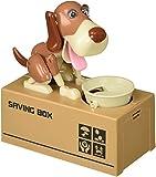 Oliasports Cute Stealing Coin Dog Money Box Piggy Bank