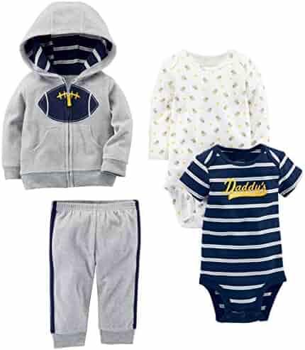 Simple Joys by Carter's Boys' 4-Piece Fleece Jacket, Pant, and Bodysuit Set