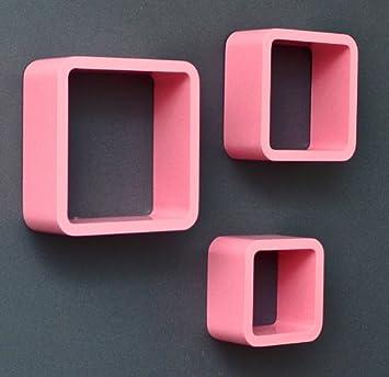 3er Set Lounge Cube Regal Design Retro 70er Wandregal Hängeregal ...